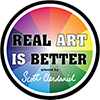 Real Art Is Better logo